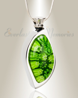Shamrock Fields Leaf Cremation Locket