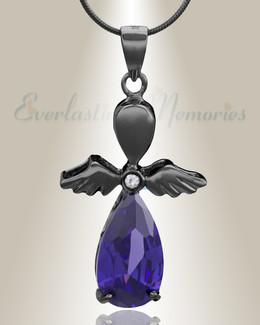Black Heavenly Flight Cremation Jewelry