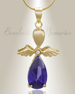 Gold Plated Heavenly Flight Cremation Jewelry