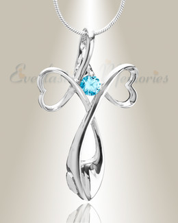 Blue Peaceful Moments Memorial Jewelry