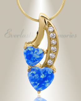 Gold Plated Calming Hearts Memorial Jewelry
