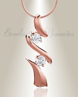 Rose Gold Blissful Moments Cremation Jewelry