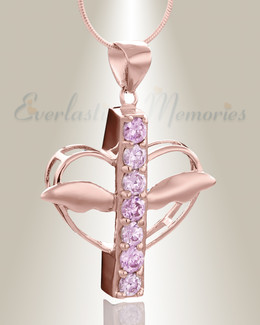 Rose Gold Joyful Feelings Cremation Jewelry
