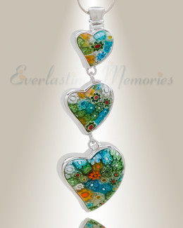 Statuesque Hearts Cremation Jewelry