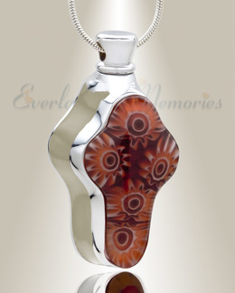 Emotions White Cross Cremation Jewelry