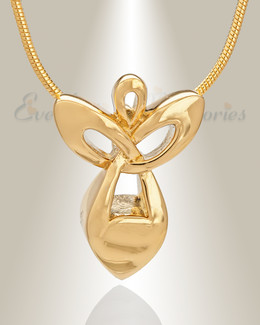Gold Plated Angel of Mercy Memorial Jewelry