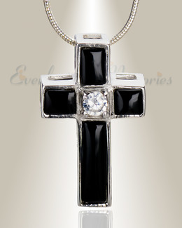 Ebony Cross Memorial Jewelry