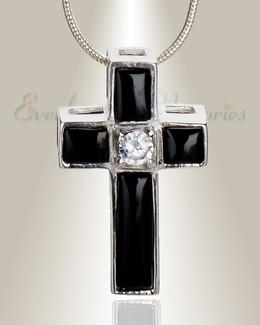 Ebony Cross Memorial Jewelry