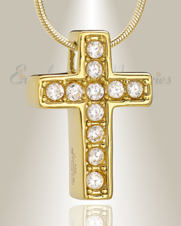 Gold Plated Hallmark Cross Memorial Jewelry
