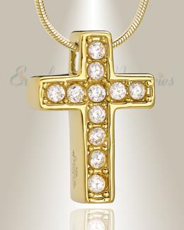 Gold Plated Hallmark Cross Memorial Jewelry