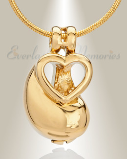 Gold Plated Hand in Hand Memorial Jewelry