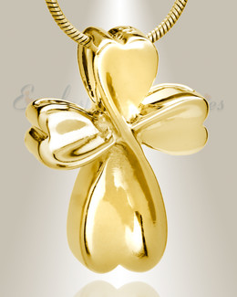 Gold Plated Contemporary Cross Memorial Jewelry