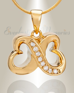 Gold Plated Endless Love Heart Memorial Jewelry