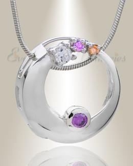 Jeweled Round Memorial Jewelry