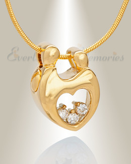 Gold Plated Bound with Love Memorial Jewelry