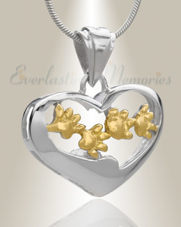 Gold Plated Willing Companion Pet Memorial Jewelry