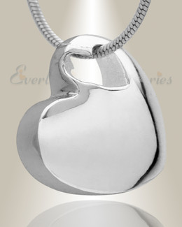 Small Candid Heart Rhodium Plated Jewelry