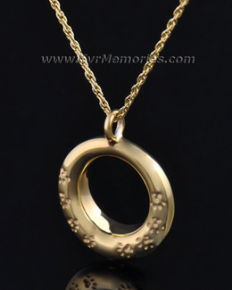 Gold Plated Imprinted Devotion Round Jewelry