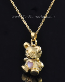 Gold Plated Tickle Me Pink Bear Jewelry
