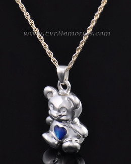 Silver Baby Blue Bear Jewelry Pendant