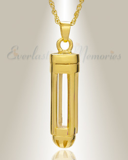 Dashing Cylinder Memorial Pendant
