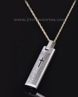 Silver Cylinder of Worship Memorial Pendant