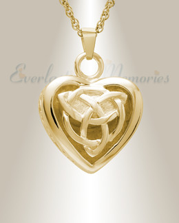 Gold Plated Transcending Heart Memorial Pendant