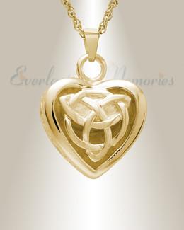 14k Gold Transcending Heart Memorial Pendant