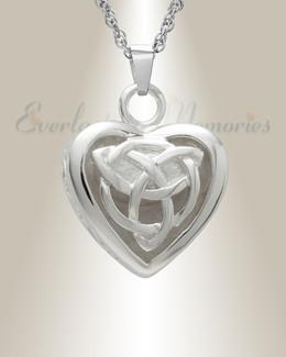 Silver Transcending Heart Memorial Pendant