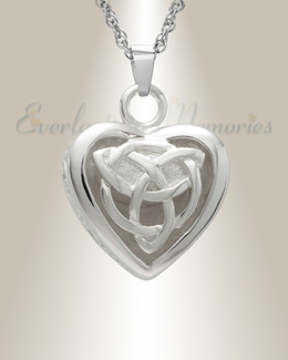 14k White Gold Transcending Heart Memorial Pendant