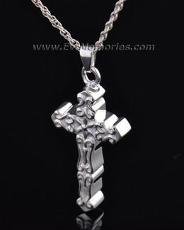 Sterling Silver Delicate Cross Memorial Locket