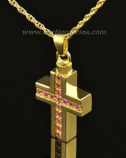 14k Gold Spiritual Cross Memorial Locket