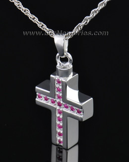 Sterling Silver Spiritual Cross Memorial Locket