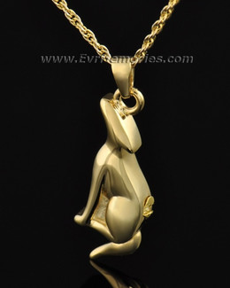 Gold Plated Deserving Dog Memorial Locket