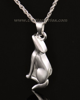 14k White Gold Deserving Dog Memorial Locket