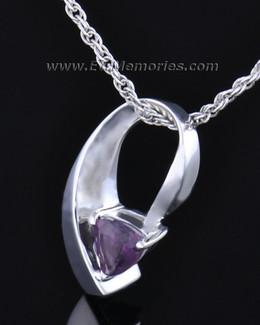 Sterling Silver Vibrant Violet Memorial Locket
