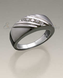 Women's Silver Soothing Ashes Cremation Ring