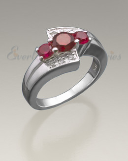 Women's Silver Shimmer Cremation Ring
