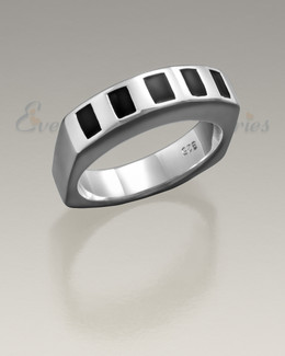 Men's Silver Token Remembrance Ring