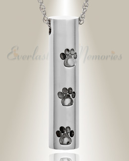 Stainless Steel Soft Impressions Pet Jewelry Urn