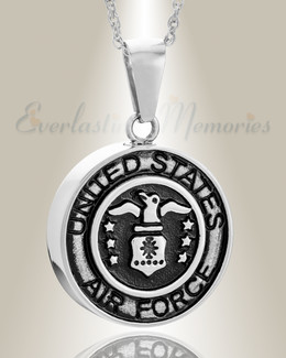Stainless Steel Air Force Medal Pendant Keepsake