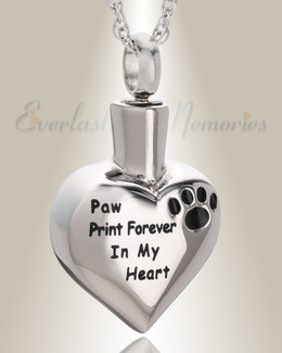 Stainless Steel Stamped Heart Pet Pendant Keepsake