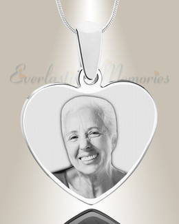 Heart Photo Engraved Stainless Keepsake