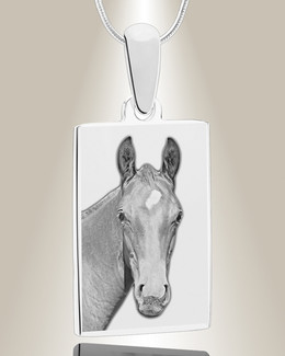 Rectangle Photo Engraved Stainless Pet Keepsake