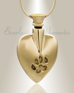 Gold In My Heart Cremation Jewelry