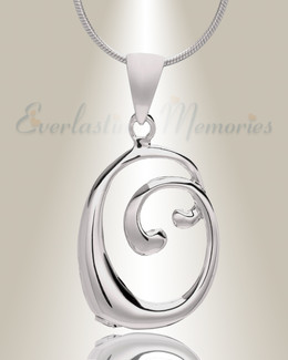 """Silver """"O"""" Initial Cremation Jewelry"""
