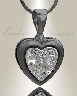 Black Loved Heart Cremation Jewelry