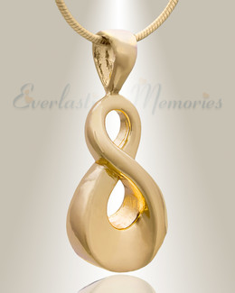 Gold Plated Always Cremation Jewelry