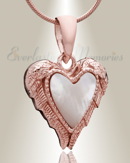 Rose Gold In Love Cremation Jewelry