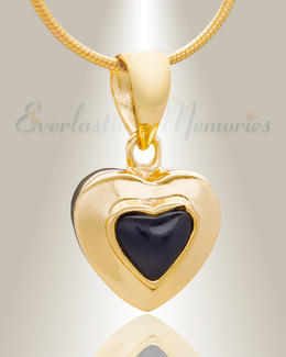 Gold Plated Fallen Heart Cremation Jewelry
